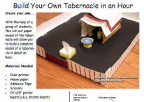 Lesson the tabernacle for Building the tabernacle craft