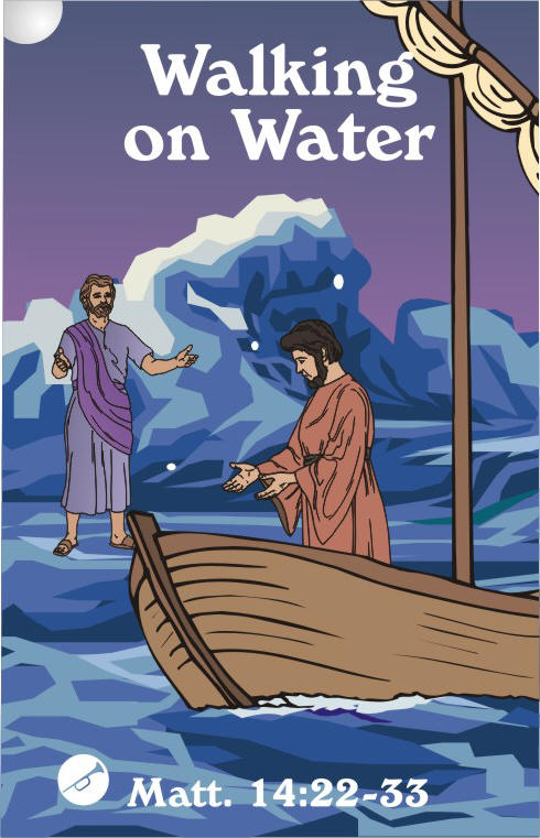 Jesus walking on water coloring page - Coloring Pages 7