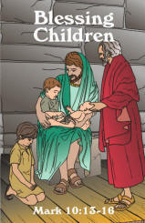 8 x 10 color graphic of Jesus blessing the children, in pdf