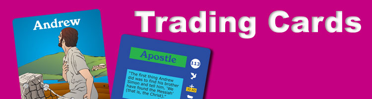 bible trading cards