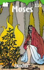 Moses & Burning Bush Trading Card Front