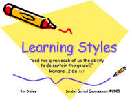using learning styles in church